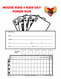 Mr4K Poker Run Card